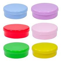 50 Latinhas De Plástico (mint To Be) - Coloridas = R$ 18,00