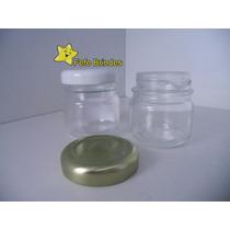 Pote De Vidro Liso De Rosca 40ml Pacotes C/ 10 Unidades
