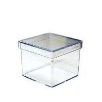 100 Caixinhas Acrílicas Transparentes 5x5x5