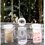 6 Potes Herméticos Tampa De Vidro 75ml - Pote - Sweet Amado