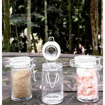 12 Potes Herméticos Tampa De Vidro 75ml - Pote - Sweet Amado