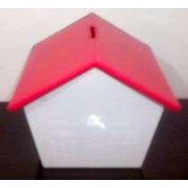 Casinha Cofre Plastica Branca Telhado Vermelh 20 Unidades