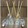 Difusor Aromatizador Quadrado(vidro) 30ml + Varetas-10 Unid