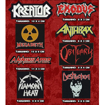 Kit Patch Bandas De Thrash Metal (kreator, Exodus, Anthrax)