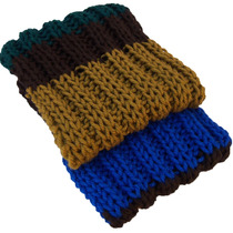 Cachecol Masculino Listrado De Lã Extra Longo Echarpe