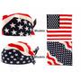Bandana Lenço Bandeira Americana Usa - Algodão 55x55cm- Rock