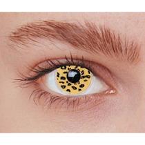 Lente De Contato Fantasia Iris Leopardo - Cosplay
