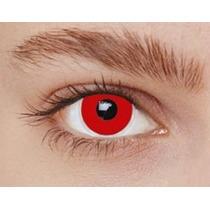 Lente De Contato Fantasia Iris Vermelha - Cosplay