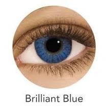 Lente De Contato Colorida Azul Brilhante Validade 2 Anos