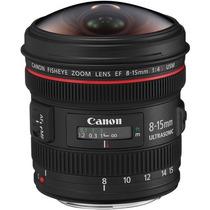 Lente Canon 8-15mm F/4l Ef Usm Olho De Peixe / Fisheye