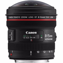 Lente Canon Ef 8-15mm F/4l Fisheye Usm - Olho De Peixe