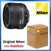 Lente Nikon Afs 50mm F/1.8g Com Autofoco - Pronta Entrega