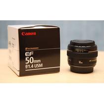 Lente Canon Ef 50mm F/1.4 Usm Para Câmeras Digitais Eos F1.4