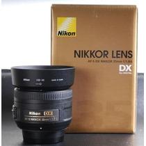 Lente Nova Nikon Nikkor 35mm F/1.8g Garantia Mercadoplatinum