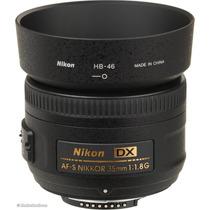 Objetiva Lente Nikon Af-s 35mm F/1.8 G, D7000 D7100 D90 Etc