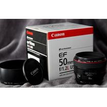 Lente Canon Ef 50mm F/1.2 Usm 1 Ano Garantia Mercadoplatinum