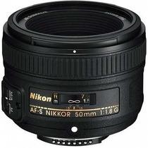 Lente Nikon 50mm F1.8g Af-s + Parasol Pronta Entrega F/1.8g