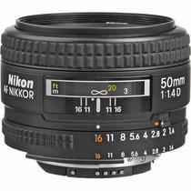 Lente Nikon Autofoco Af Nikkor 50mm F/1.4d + Caneta Limpeza