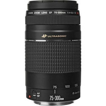 Lente Canon Ef 75-300mm F/4-5.6 Iiii Usm Nota Garantia 1 Ano