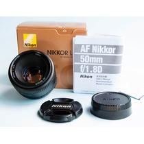 Lente Nikkor 50mm F1.8d Estado De Zero !