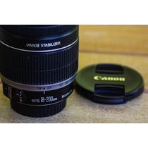 Lente Canon 18-200 F3.5-5.6 Auto Focus 70d 60d 7d T3i T5i 6d
