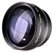 Super Lente Telefoto Hd 2.2x Câmera 52 Mm Nikon D5000 D5100