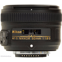 Lente Nikon Af-s Nikkor 50mm F/1.8g C/ Parasol Caixa Lacrada