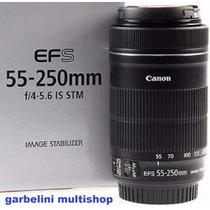 Lente Canon Ef-s 55-250mm F/4-5.6 Is Stm Autofoco Estabiliza