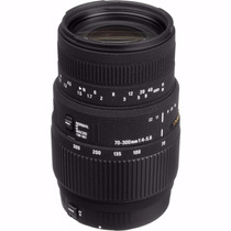 Lente Sigma 70-300mm F/4-5.6 Dg Macro Nova Autofoco P/ Canon