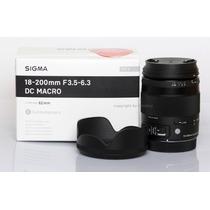 Lente Sigma P/ Canon 18-200mm Os Hsm Macro Mercadoplatinum