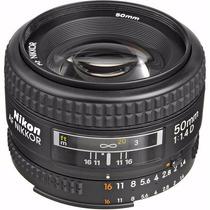 Nikon Lente Autofoco Af Nikkor 50mm F/1.4d