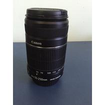 Lente Canon Ef-s 55-250mm F4 5.6 Is Auto Foco Zoom Objetiva