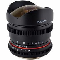 Lente Rokinon Cine Fisheye 8mm T/3.8 P/ Nikon Pronta Entrega