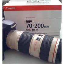 Lente Canon Nova 70-200mm F/4l Usm Em Sp Merclider Platinum