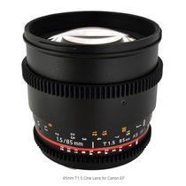 Lente Rokinon 85mm T1.5 Cine Para Canon Ef Nova