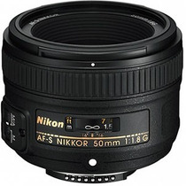Lente Nikon 50mm F1.8g Af-s C/ Parasol Pronta Entrega - Nf
