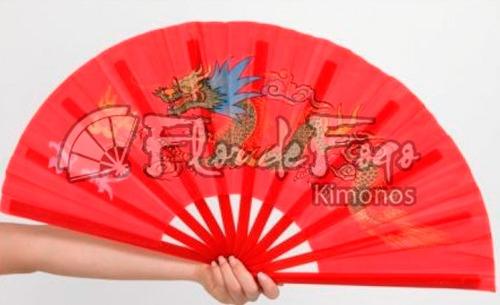 Leque De Dança Oriental Vermelho - Flor De Fogo Kimonos