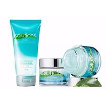 Kit Avon Solutions Gel De Limpeza+creme Facial Anti Brilho