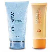 Gel De Limpeza Facial + Protetor Solar Facial Renew Fps50