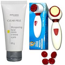 Limpeza Pele Micro Peeling Facial + Massageador Elétrico