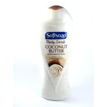 Softsoap Sabonete Líquido Coconut 443ml Esfoliante Corporal