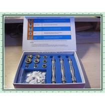 Kit 3 Canetas Peeling De Diamante Alumínio + 9 Ponteiras