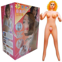 Boneca Inflável Realística Loira Vagina E Ânus Cyber Skin