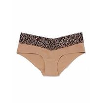Calcinha Cotton Renda Leopardo Victorias Secret