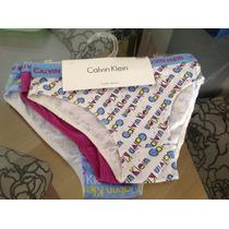 Calvin Klein Calcinhas Infantis Tamanho P Kit Com 3 Unidades