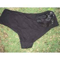 Calça Calcinha Shorts Design Intimo Preta G Com Bolso Paete