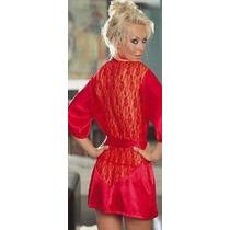 Lingerie Kimono Vermelho Mulher Tamanho Único Importado