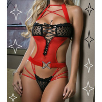 Lingerie Babydoll Glamour Noite Sexy