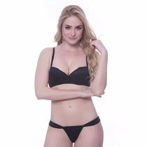 Conjunto Lingerie Sutiã C/ Bojo Calcinha Renda Sensual Sexy