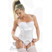 Lingerie Espartilhos Branco Beyonce Erk Luxo